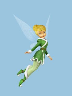 tinkerbell with yellow hair and green dress so perfect sh is my favorite fairy