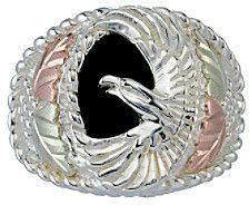 Black Hills Gold Men's Eagle Onyx Ring on shopstyle.com