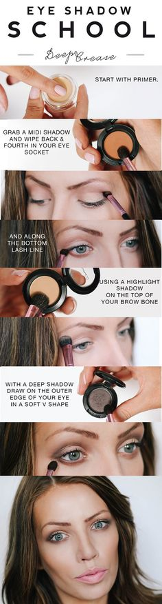 Eye shadow School: Deep Crease eyeshadow