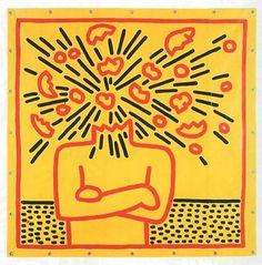""" Untitled (Exploding Head), 1983 by Keith Haring. Kritzelei Tattoo, Tattoos, Keith Allen, Keith Haring Art, James Rosenquist, Street Art, Big Bang, Art Walk, Wow Art"