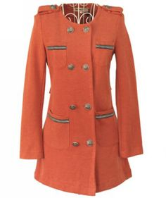 Double Breasted Round Collar Coat