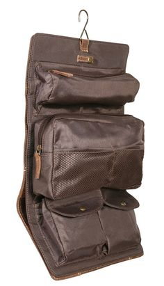 Necessaire TORONTO Leder kaffeebraun - Max Leder Vanity Bag, Toronto, Beauty Case, Chicago, Wash Bags, Toiletry Bag, Bradley Mountain, Luggage Bags, Backpacks