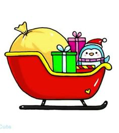 How to Draw a Christmas Sled Easy Easy Doodles Drawings, Cute Drawings, Cute Animal Drawings Kawaii, Cartoon Drawings, Christmas Drawings For Kids, Smile Drawing, Disney Princess Drawings, Kawaii Doodles, Dot Art Painting