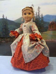Williamsburg Le Belle Fleur fits American Girl Elizabeth Felicity 18 in dolls #ClothingShoes