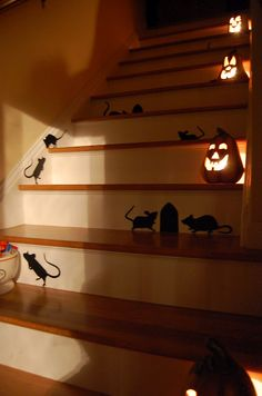 Stairs decorated for