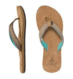 a7614b7f0664 The Reef Gypsylove sandals for women are a new style featuring a  comfortable leather suede footbed.