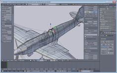 9) The whole frame of the fuselage and wings, Vol. 2. Even this was untenable when I tried to do the paintwork. I had to restart one more time and keep the mesh to the absolute minimum of vertices and edges.