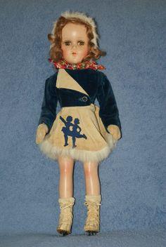 """17"""" Vintage Arranbee Nancy Lee Ice Skater Composition Doll"""