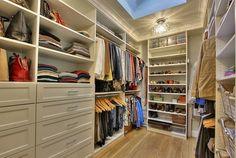 Store It Better: Ideas to Organize and Revitalize Your Bedroom Closet Closet Bar, Walk In Closet, Short Dresser, Cabinet Organizers, Big Closets, Barn Style Doors, California Closets, Hanging Curtains, Closet Bedroom