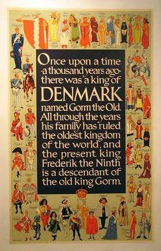 Travel Vintage Denmark Poster
