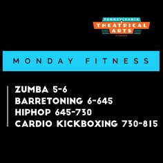 Here is the group fitness schedule for today at PATABS!!  New choreography coming at you...  see you tonight!  MONDAY GROUP FITNESS Zumba 5-6 BarreToning 6-645 HipHop 645-730 Cardio Kickboxing 730-815 #dancefitnesswithdani