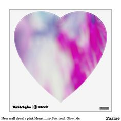 New wall decal : pink Heart shape