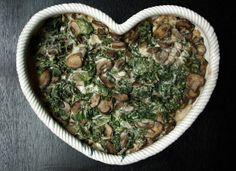 THE SIMPLE VEGANISTA: Kale & Mushroom Gratin