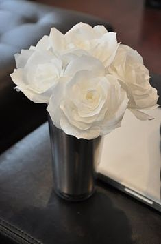 Coffee filter fIlter flower.. Saw them at the dollar store, 200 for a dollar!