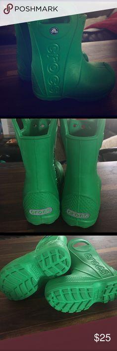Crocs rain boots Toddler size 8. Minimal wear. Great condition. CROCS Shoes Rain & Snow Boots