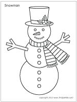 Snowman Cut it out and Cut outs on Pinterest