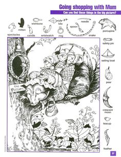 Hidden pictures Hidden Object Puzzles, Hidden Picture Puzzles, Hidden Objects, Find Objects, Card Games For Kids, Puzzles For Kids, Craft Activities For Kids, Colouring Pages, Coloring Books