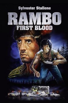 Rambo First Blood Hindi synchronisierter Hollywood-Film - Entertainment Action Movie Poster, Action Movies, Movie Posters, Film Movie, Survival Film, Sylvester Stallone Rambo, Stallone Movies, Silvester Stallone, Geek