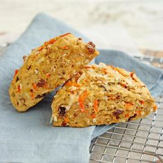 No bakery degree required for this recipe: these healthy carrot- and raisin-studded morning glory scones are as easy to make as a batch of muffins. White whole-wheat flour adds a boost of fiber, and just enough butter gives them great flavor and texture without going overboard on calories. For a sweeter scone, drizzle with the optional scone glaze.