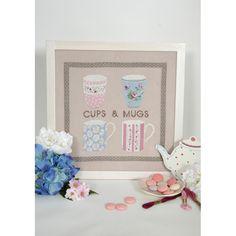 """Kit cuadro """"Cups and mugs"""" BK1513 - Casa - Deco - DMC"""