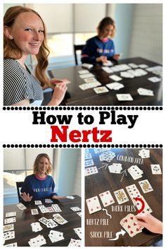 How to Play Nertz. Nertz is a fun and simple card game to learn and play! Family Card Games, Fun Card Games, Card Games For Kids, Games For Teens, Lets Play A Game, Games To Play, Dice Games, Activity Games, Fun Activities
