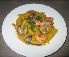 FORNELLI IN FIAMME: KAMUT PENNE PASTA WITH SEAFOOD - Penne alla pescatora