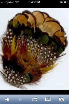 Pheasant Feather Hair Pin