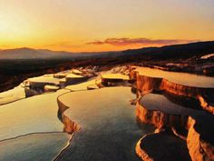 19 Unesco World Heritage Sites To See Before You Die Pamukkale, Photos Du, World Heritage Sites, Us Travel, The Good Place, Nature, Travel Destinations, Sunrise, Castle