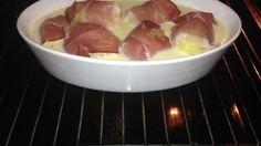 Kartoffeln im Baconmantel mit Zitronen-Sahne-Soße