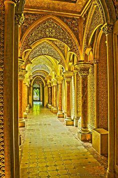 A hallway of the beautiful castle, Palacio de #Monserrate, Sintra, Portugal. Photography #MaritaToftgard