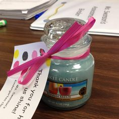 Thank you gifts for my classroom helpers! Volunteer Gifts, Volunteer Appreciation, Teacher Appreciation Gifts, Teacher Gifts, Thanks Teacher, Classroom Helpers, Teacher Treats, Farewell Gifts, Employee Gifts