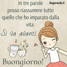 Italian Quotes, Morning Images, Cartoon Art, Good Morning, Me Quotes, Comics, Cards, Fun, Fictional Characters