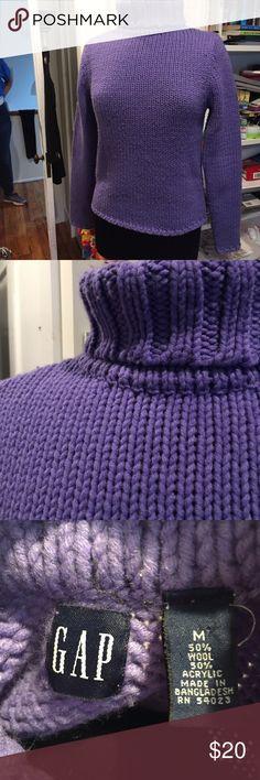 Purple turtleneck Purple super warm and comfy turtleneck sweater GAP Sweaters Cowl & Turtlenecks