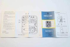 SOLARI UDINE DATOR 5 - Gino Valle - 1956 - (instruction booklet) - VERY RARE in…