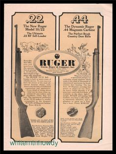 1964 RUGER 10/22 Rifle and Carbine PRINT AD : Other Collectibles at GunBroker.com