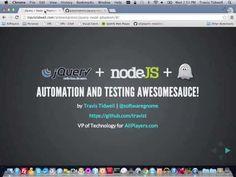 jQuery + Node.js + Phantom.js = Automation Awesomesauce! - YouTube