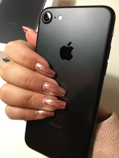 #nails #mirror #fashion #style #love #iphone #black #matte #7 #pink #glitter