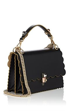 f361ca3a16 Fendi Kan I Leather Shoulder Bag