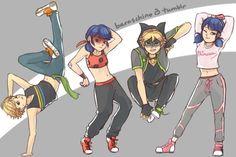 Break dance AU (belongs to Starrycove) by baraschino