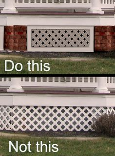 Porch Skirting Mistakes - Old House Guy - - Porch skirting mistakes. Porch skirting ideas and lattice under porch design. The porch skirt and porch lattice for historic Victorian homes. Porch Lattice, Deck Skirting, House Skirting, Building A Porch, Diy Deck, House With Porch, This Old House, House Roof, Zen Gardens