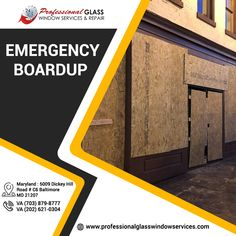 Save time, money and energy by calling Professional Glass Window Repair for Emergency Board Up Services. For more information call us on (703) 879-8777 or visit us at Professional Glass Window Services  #patiodoorglassrepair #glassrepair #emergencyglassrepair #brokenstorefrontrepair #storefrontinstallation #stormwindowsrepair Window Screen Frame, Window Screens, Window Repair, Glass Repair, Patio Doors, Store Fronts, Windows, Money, Board
