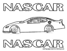 nascar 1 car coloring pages | Race Car Pictures to Print | Car Coloring Pages | Cars ...