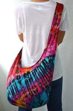 Tie Dyed Hippie Hobo Boho Cross Body Bag Messenger Purse S102028 on Wanelo  Money Trees bbf9f8c6f280b