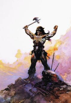 Darkwolf To Jaguar God by Frank Frazetta.