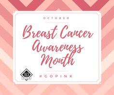 October is Breast Cancer Awareness Month #gopink  #breastcancerawarenessmonth
