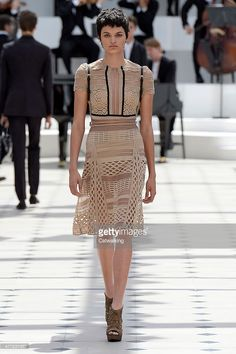 A model walks the runway at the Burberry Prorsum Spring Summer 2016 fashion show during London Menswear Fashion Week on June 15, 2015 in London, United Kingdom.