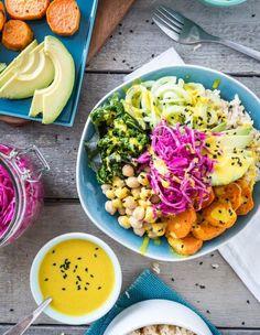 Recette buddha bowl : healthy, frais et coloré, découvrez la recette du buddha bowl, le repas tout-en-un....