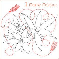 Nicole's Free Coloring Pages: 1 Martie Martisor * Desene de colorat * Spring Coloring pages