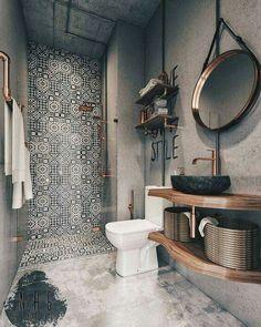 Modern Farmhouse Bathroom Decor Ideas - Page 30 of 70 - ProHouse. Bathroom Design Small, Bathroom Interior Design, Bathroom Designs, Diy Interior, Scandinavian Interior, Apartment Interior, Small Bathroom Makeovers, Scandinavian Bathroom, Luxury Interior