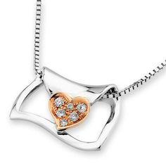 IADFBA  18K/750 Rose & White Gold Love Letter by IADJewellery, $284.00